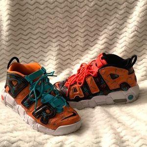 Nike Air Uptempo. Purple/ Orange. Size: 5.5